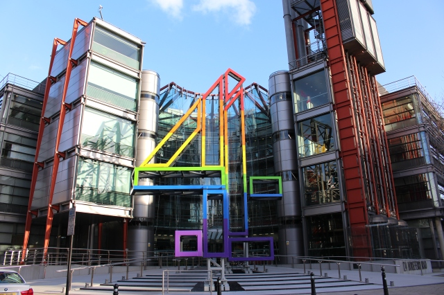 Channel 4 Rainbow Logo, Horseferry Road, London