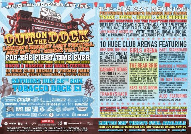 Summer Rites, Out On The Dock, Tobacco Dock, London, Saturday 26 July