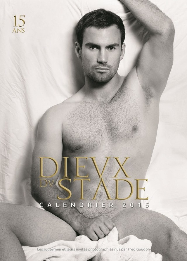 Morgan Parra, Cover Model, Dieux du Stade, 2015 Calendar