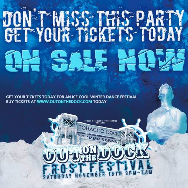 Out On The Dock, Frost Festival, Tobacco Dock, Saturday 15 November 2014