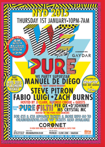 We Party Pure, The Coronet Theatre, New Year's Day 2015