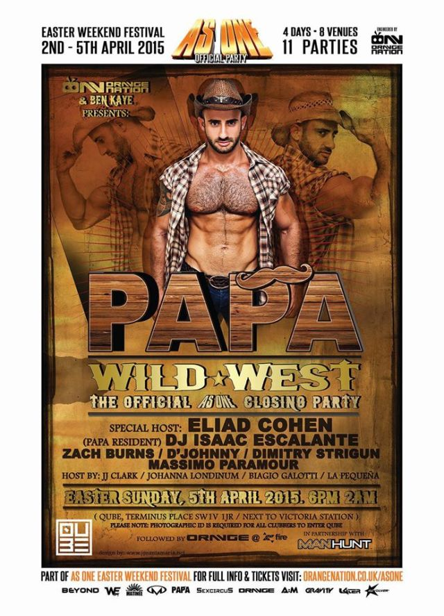 Papa Wild West, London, Easter Sunday 5 April