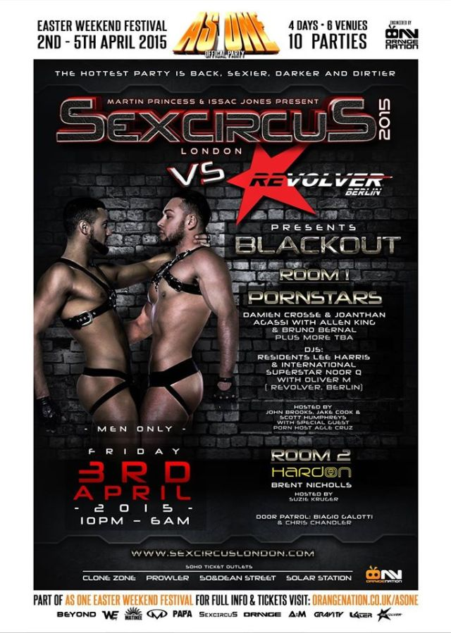 Sexcircus London, Friday 3 April 2015