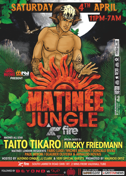 Matinee Jungle, Fire, London, Easter 2015