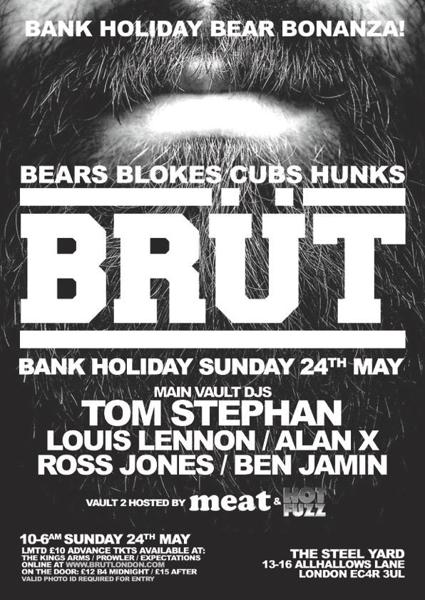 Brut Bank Holiday Sunday 24 May