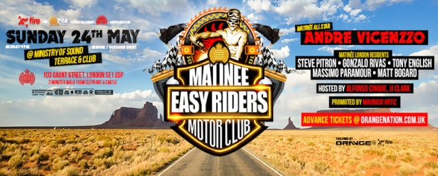 Matinee Easy Riders Motor Club, Ministry of Sound, London, Sunday 24 May