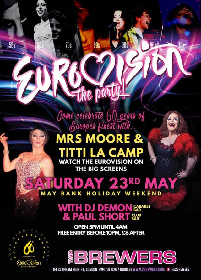 Eurovision, The Two Brewers, Clapham, Saturday 23 May 2015