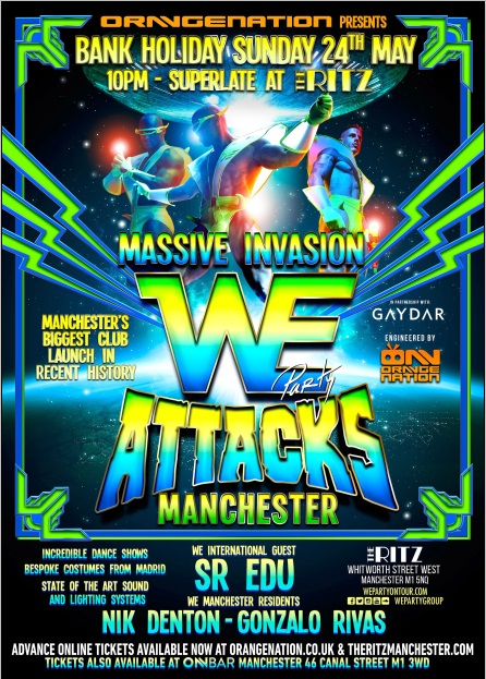 We Party Manchester, Sunday 24 May 2015