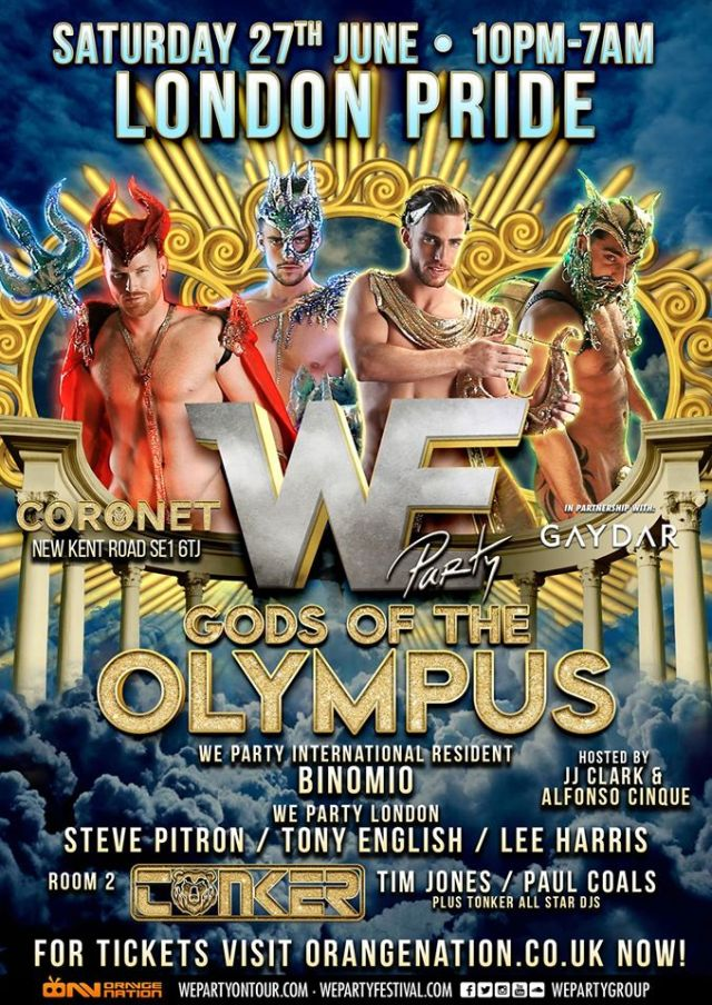 We Party London, Pride 2015, Gods Of Olympus