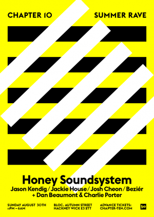 Chapter Ten presents Honey Soundsystem, London, Sunday 30 August 2015