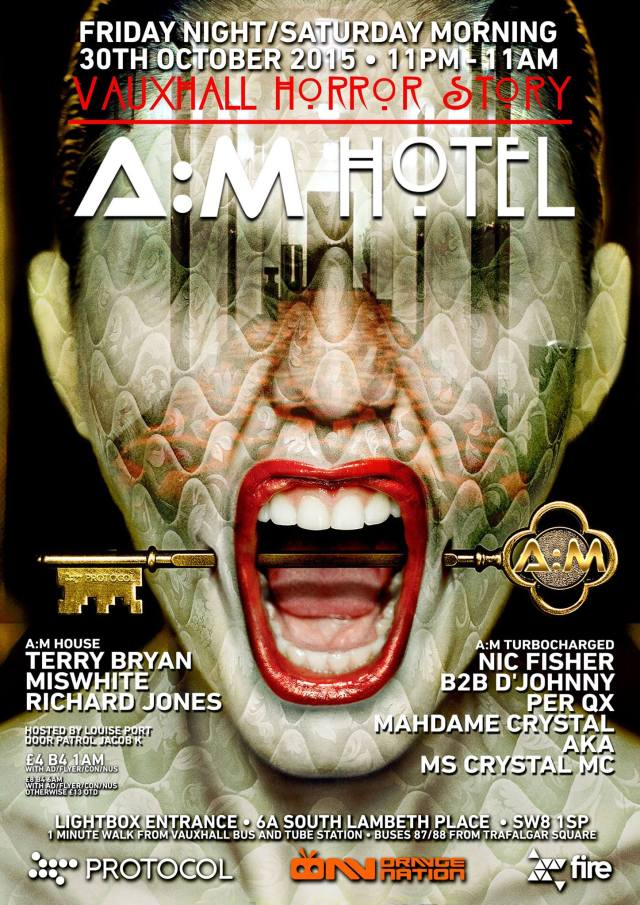 A:M Hotel, Vauxhall Horror Story, Halloween
