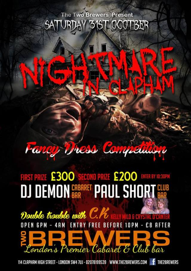Halloween, A Nightmare In Clapham, The Two Brewers, Saturday 31 October