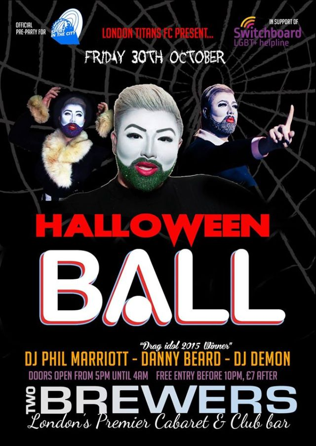 Halloween Ball, The Two Brewers Clapham, Friday 30 October 2015