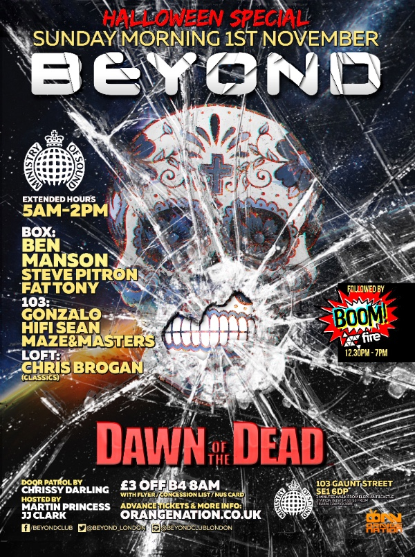 Halloween Beyond London Ministry of Sound