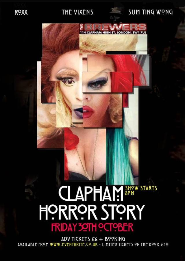 Halloween, Clapham Horror Story, The Two Brewers Clapham, Friday 30 October 2015