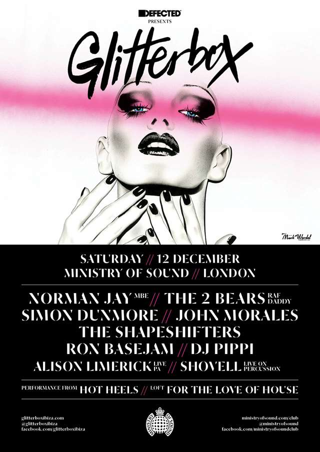 Glitterbox at The Ministry Of Sound, Saturday 12 December 2015