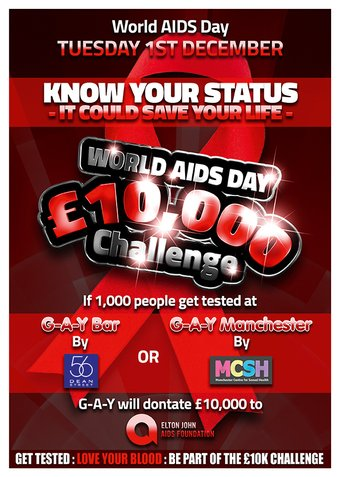 World AIDS Day 2015 G-A-Y Bar London