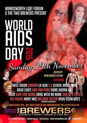 World AIDS Day 2015 Two Brewers Clapham London