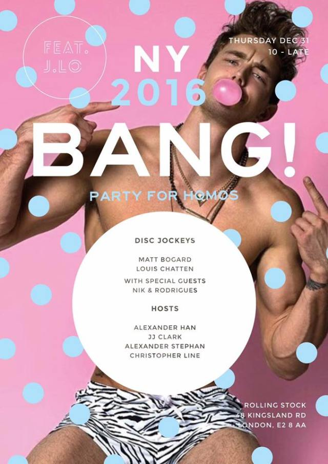 Bang, London, New Year's Eve 2015