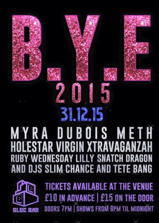 Bloc Bar, London, New Year's Eve 2015