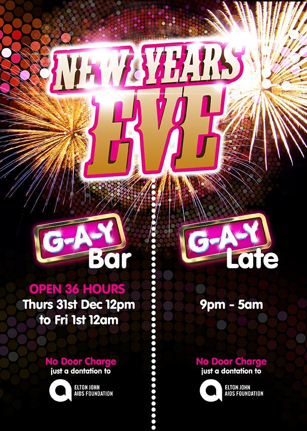 G-A-Y Bar, London, New Year's Eve 2015