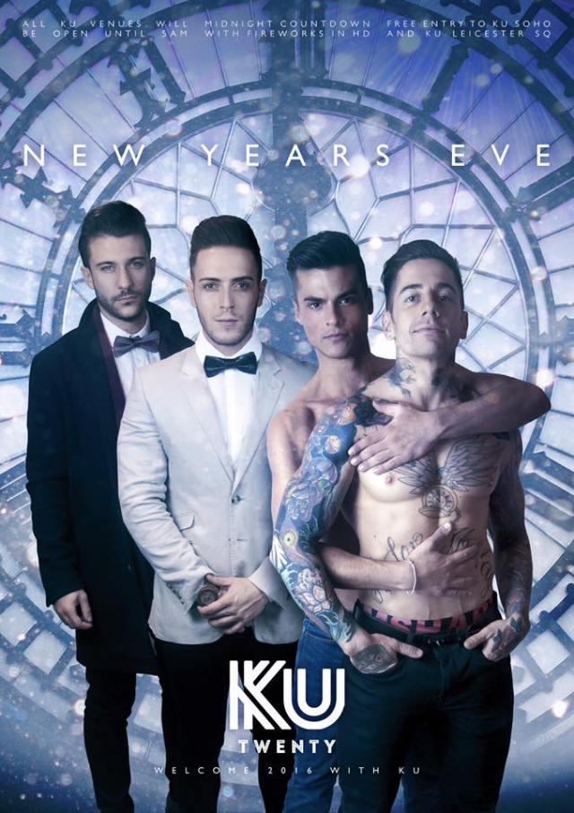 Ku Bar & Ku Soho, London, New Year's Eve 2015
