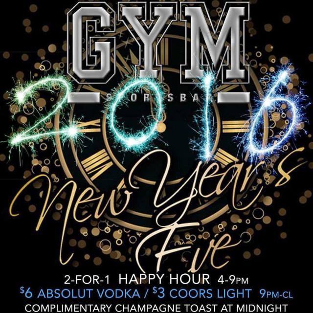 Gym Sports Bar, New York, New Year's Eve 2015
