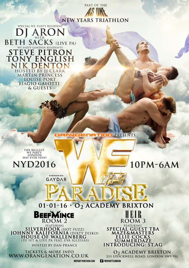 We Party Paradise, New Year's Day 2016 London