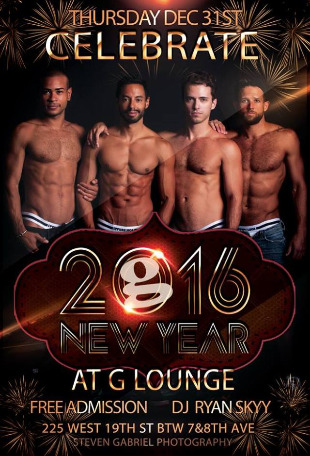 G Lounge New York, New Year's Eve 2015