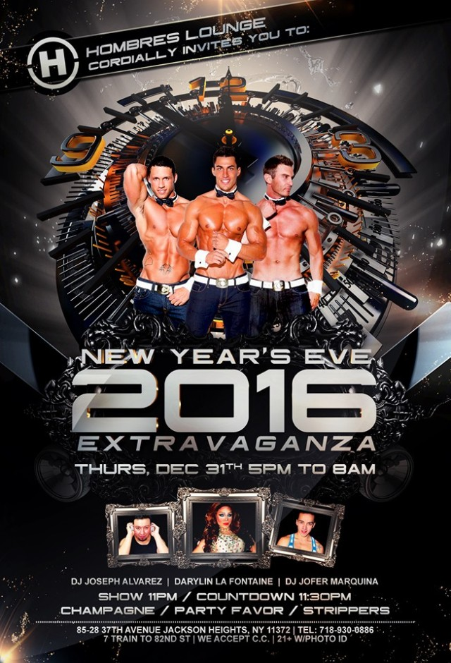 Hombres Lounge, New York, New Year's Eve 2015
