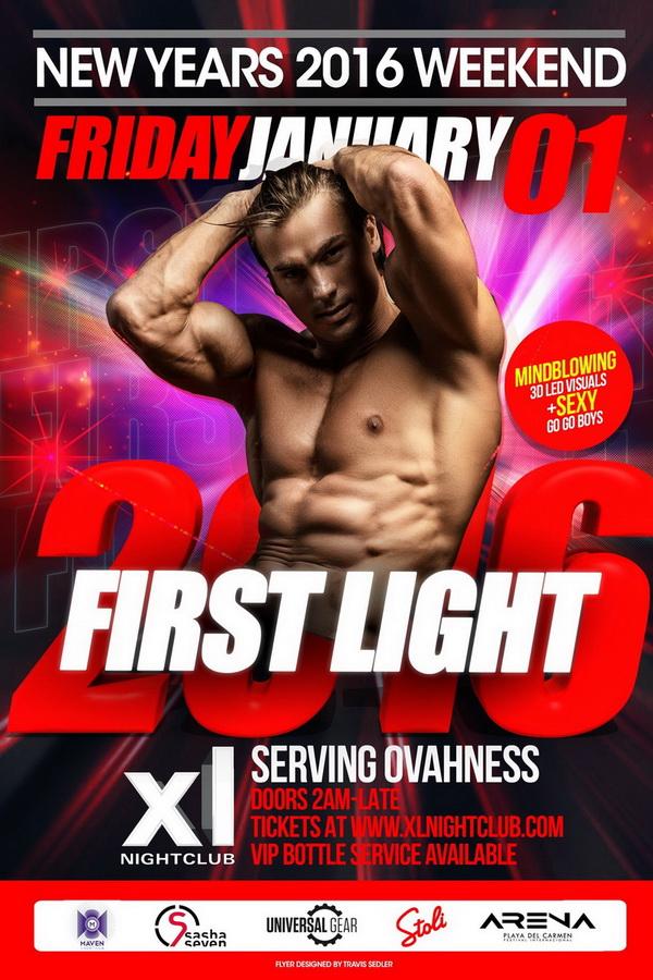 XL Nightclub, New York, New Year's Eve 2015
