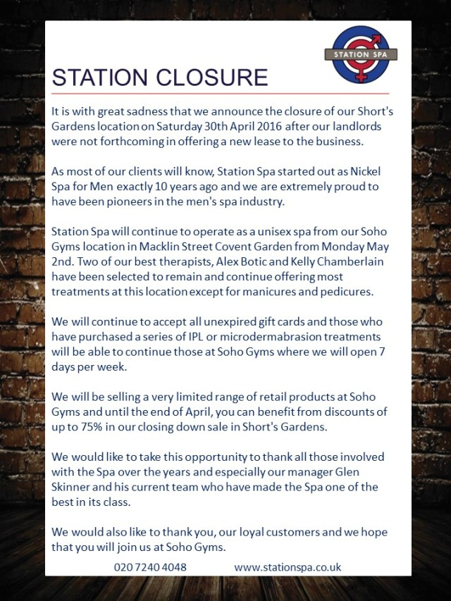 Station Spa Covent Garden